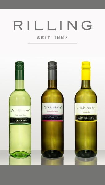 1x Probierpaket 3 Flaschen 0,75 l Wein